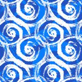 Seamless pattern with bold swirling brush strokes Stock Image
