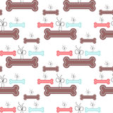 Seamless pattern with bones for puppies Royalty Free Stock Image