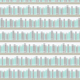 Seamless pattern with books on a bookshelf vector illustration