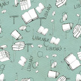 Seamless pattern with books Stock Image