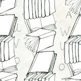 Seamless pattern with books Royalty Free Stock Image
