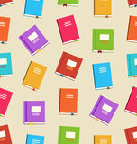Seamless Pattern of Books for Education Royalty Free Stock Photography