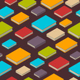 Seamless pattern of books. Isometric flat style. Seamless pattern of new 3d colorful books and tutorials. Isometric flat class books and textbooks wallpaper Stock Images