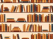Seamless pattern with books, library bookshelf. Vector illustrat. Seamless pattern with books, library bookshelf. Bookshelves, library. Vector illustration stock illustration
