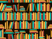 Seamless pattern with books, library bookshelf. Vector. Illustration Royalty Free Stock Photo