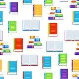 Seamless pattern with books. Education or bookstore background in flat design style Royalty Free Stock Image