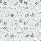 Seamless pattern with books Royalty Free Stock Images