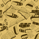 Seamless pattern of books Stock Image