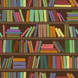 Seamless pattern of bookshelf with books Stock Image