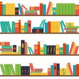 Seamless pattern bookshelves Royalty Free Stock Photos
