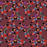 Seamless pattern with boomerangs vector illustration