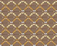 Seamless pattern with boomerangs and arrows Royalty Free Stock Image