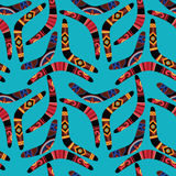 Boomerang Seamless Pattern Stock Photos