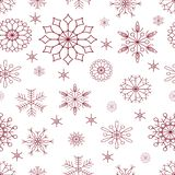 Seamless pattern. Christmas_snowflakes. stock illustration
