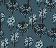 Seamless pattern with botanic texture in doodle style. Stock Images