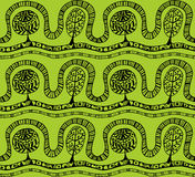 Seamless pattern with botanic texture in doodle style. Stock Photo
