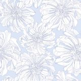 Seamless  pattern of botanical flowers Royalty Free Stock Photography