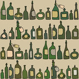 Seamless pattern with  bottles Royalty Free Stock Image