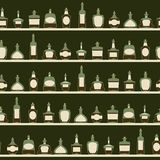 Seamless pattern with bottles. Royalty Free Stock Photography