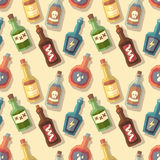 Seamless pattern with bottles Royalty Free Stock Photos