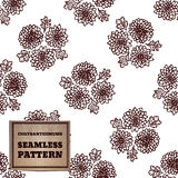 Seamless pattern with bouquet of chrysanthemums Stock Photography