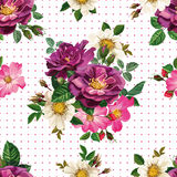 Seamless pattern, bouquet of flowers Royalty Free Stock Photos