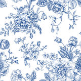 Seamless  pattern with bouquet of  flowers. Stock Photo