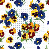 Seamless pattern, bouquet of forget-me-nots Royalty Free Stock Photo
