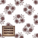 Seamless pattern with bouquet of peonies Royalty Free Stock Photos