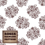 Seamless pattern with bouquet of roses Royalty Free Stock Photo