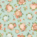 Seamless pattern with a bouquet of roses Stock Photo