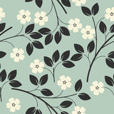 Seamless pattern with  bouquets of flowers on light blue backgro Stock Photo