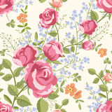Seamless pattern with bouquets of flowers Royalty Free Stock Photo