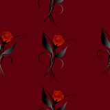 Seamless pattern with bouquets of roses. Stock Photo