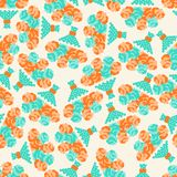 Seamless pattern with bouquets of roses in retro Stock Image