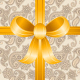 Seamless pattern with a bow Royalty Free Stock Photos