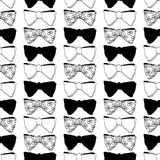 Seamless pattern with bow ties Royalty Free Stock Images