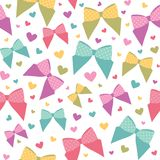 Seamless pattern with bows Royalty Free Stock Photography