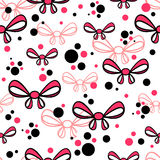 Seamless pattern with bows Stock Image