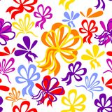 Seamless pattern with bows. Editable and easy color change Royalty Free Stock Photos