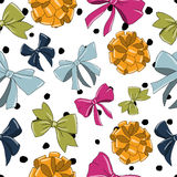 Seamless pattern with bows. Royalty Free Stock Photography