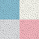 Seamless pattern with bows. Set of four Royalty Free Stock Images