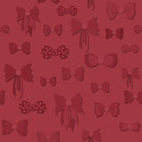 Seamless Pattern with Bows Stock Photo