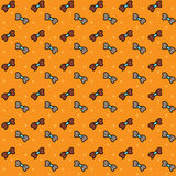 Seamless pattern. Bows. Seamless pattern of Bows. Vector. orange Stock Photos