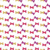 Seamless pattern with bows on a white background. Stock Images