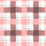 Seamless pattern in the box in pink color. On a white background with pink and blue stripes Royalty Free Stock Images