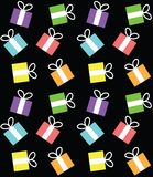 Seamless pattern with boxes for gifts Stock Images