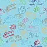 seamless pattern of boy's faces Royalty Free Stock Photos