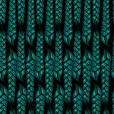 Seamless pattern of braided braids of green color. Vector illustration vector illustration