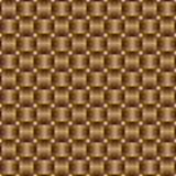 Seamless pattern braided brown ribbon Stock Images